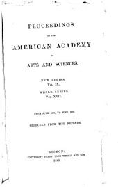 Proceedings of the American Academy of Arts and Sciences: Volume 17