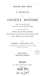 A manual of ancient history