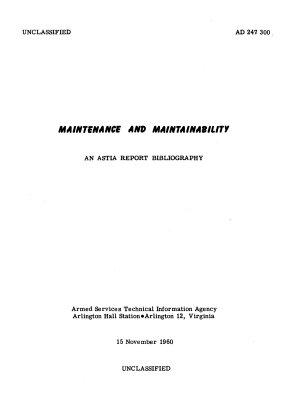 Maintenance and Maintainability
