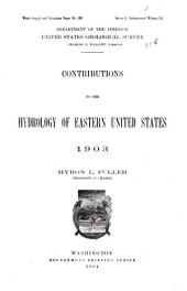 Contributions to the Hydrology of Eastern United States