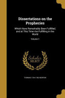 DISSERTATIONS ON THE PROPHECIE PDF