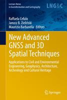 New Advanced GNSS and 3D Spatial Techniques PDF