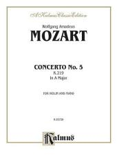 Violin Concerto No. 5, K. 219: String - Violin and Piano