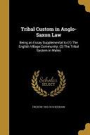 TRIBAL CUSTOM IN ANGLO SAXON L PDF