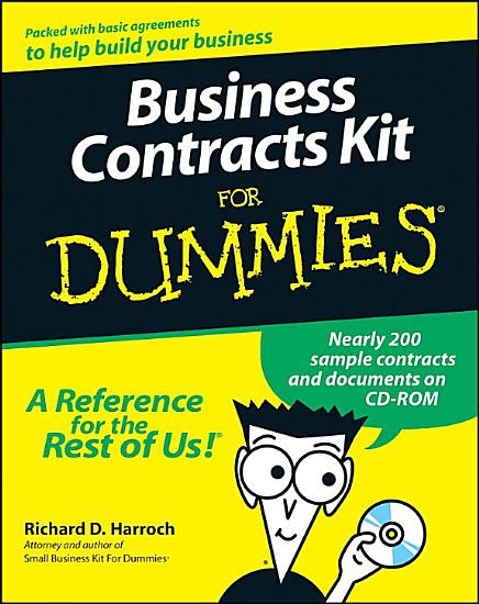 Business Contracts Kit For Dummies PDF