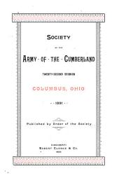 Reunion of the Society of the Army of the Cumberland: Volume 22