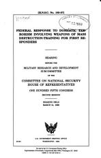 Federal Response to Domestic Terrorism Involving Weapons of Mass Destruction training for First Responders PDF