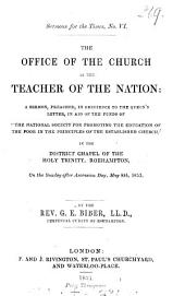 The office of the Church as the teacher of the nation: a sermon: Volume 1