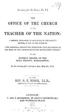 The Office of the Church as the Teacher of the Nation  A Sermon PDF