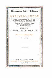 The American Nation: Matteson, D. M. Analytic index