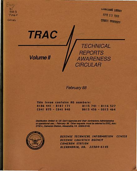 Technical Reports Awareness Circular   TRAC  PDF