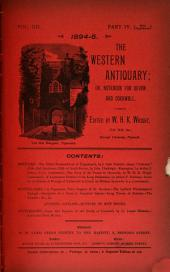 The Western Antiquary: Volume 12