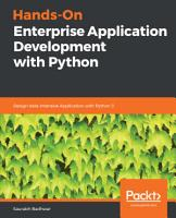Hands On Enterprise Application Development with Python PDF