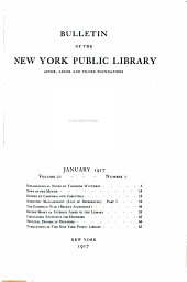 Bulletin of the New York Public Library: Volumes 21-22