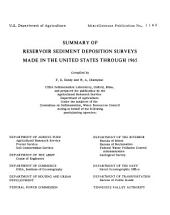 Summary of reservoir sediment deposition surveys made in the United States through 1965