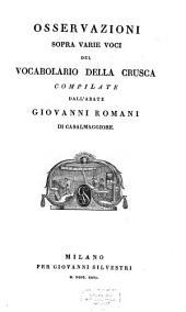 Osservazioni sopra varie voci del Vocabolario della Crusca