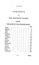Works: ¬The lives of the English Poets, Volume 11