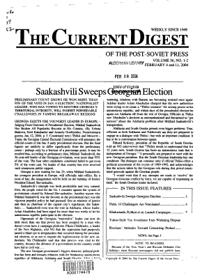 The Current Digest of the Post Soviet Press PDF