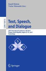 Text, Speech, and Dialogue
