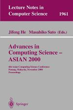 Advances in Computing Science - ASIAN 2000