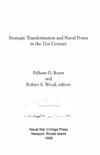 Strategic Transformation and Naval Power in the 21st Century PDF