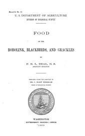 Food of the Bobolink, Blackbirds and Grackles