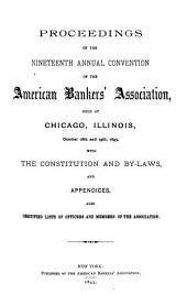 Proceedings of the Convention of the American Bankers' Association: Volumes 1893-1896