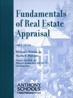 FUNDAMENTALS OF REAL ESTATE APPRAISAL 8th Edition PDF
