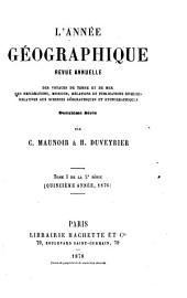 L'Année géographique: Volume15