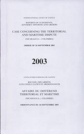 Affaire Du Différend Territorial Et Maritime (Nicaragua C. Colombie)