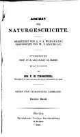 Archiv f  r Naturgeschichte PDF