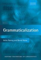 Grammaticalization PDF