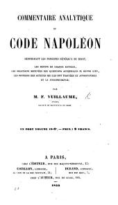 Commentaire analytique du Code Napoléon, etc