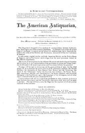 The American Antiquarian and Oriental Journal: Volumes 1-2