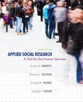 Applied Social Research  A Tool for the Human Services PDF