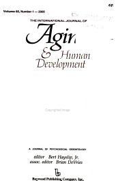 The International Journal of Aging   Human Development PDF