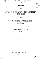 Roster of State, District and County Officers