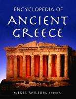 Encyclopedia of Ancient Greece PDF