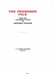 The Prioresses Tale: From the Canterbury Tales