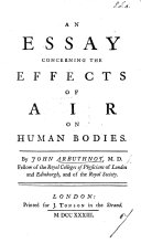An Essay Concerning the Effects of Air on Human Bodies