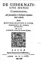 De gubernatione mundi commentarius