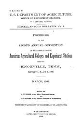 Proceedings of the ... Annual Convention of the Association of American Agricultural Colleges and Experiment Stations: Volume 1