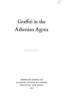 Graffiti in the Athenian Agora PDF