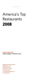 Zagat America S Top Restaurants Book PDF