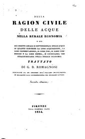 Della Ragion Civile Delle Acque Nella Rurale Economia: Volume 3