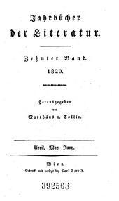 Jahrbücher der Literatur: Band 10