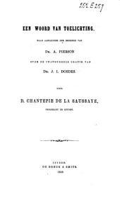 Een woord van toelichting, naar aanleiding der recensie van Dr. A. Pierson over de inaugureele oratie van Dr. J. I. Doedes
