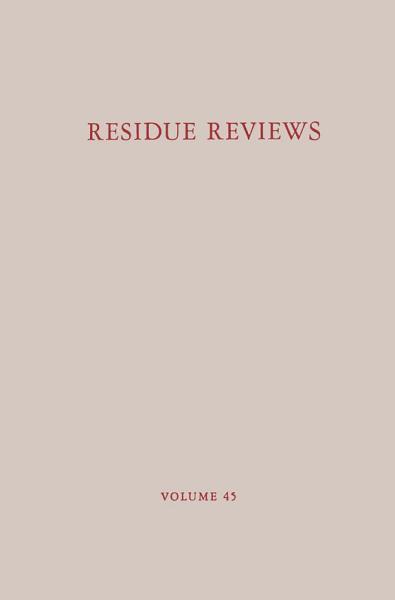 Download Residue Reviews Book