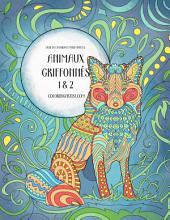 Livre de coloriage pour adultes Animaux griffonnés 1 & 2