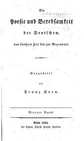Die Poesie und Beredsamkeit der Deutschen: von Luthers Zeit bis zur Gegenwart, Band 4